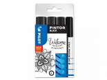 Pilot Pintor 4 Piece Black Set - Mixed Sizes